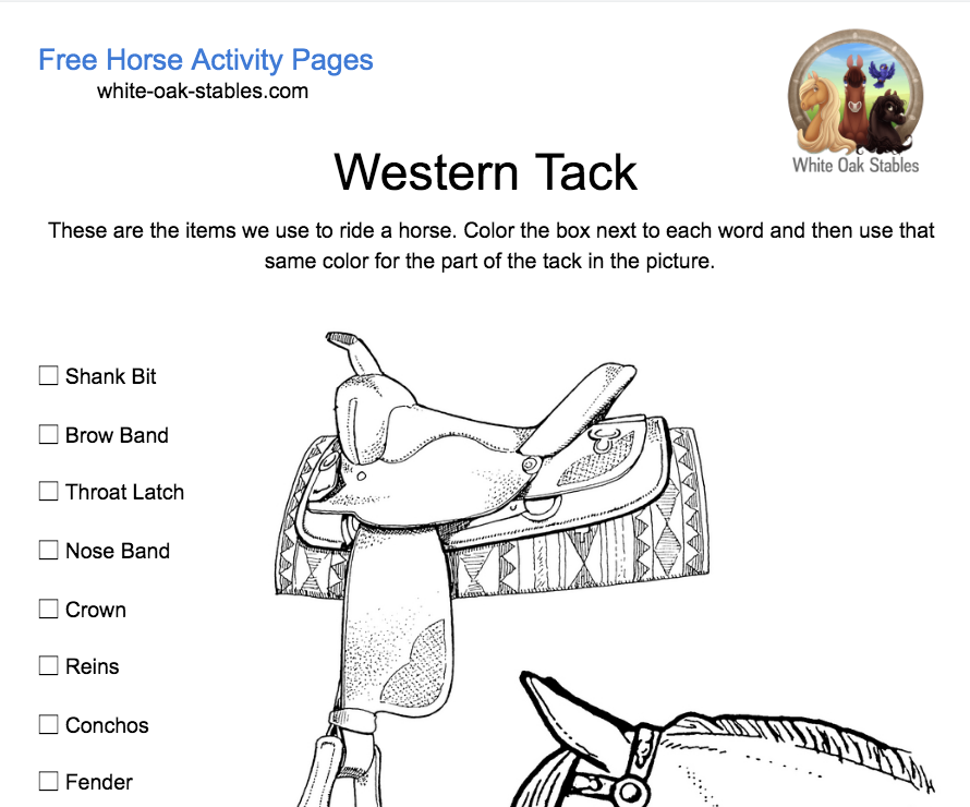 Western Tack Activity Page