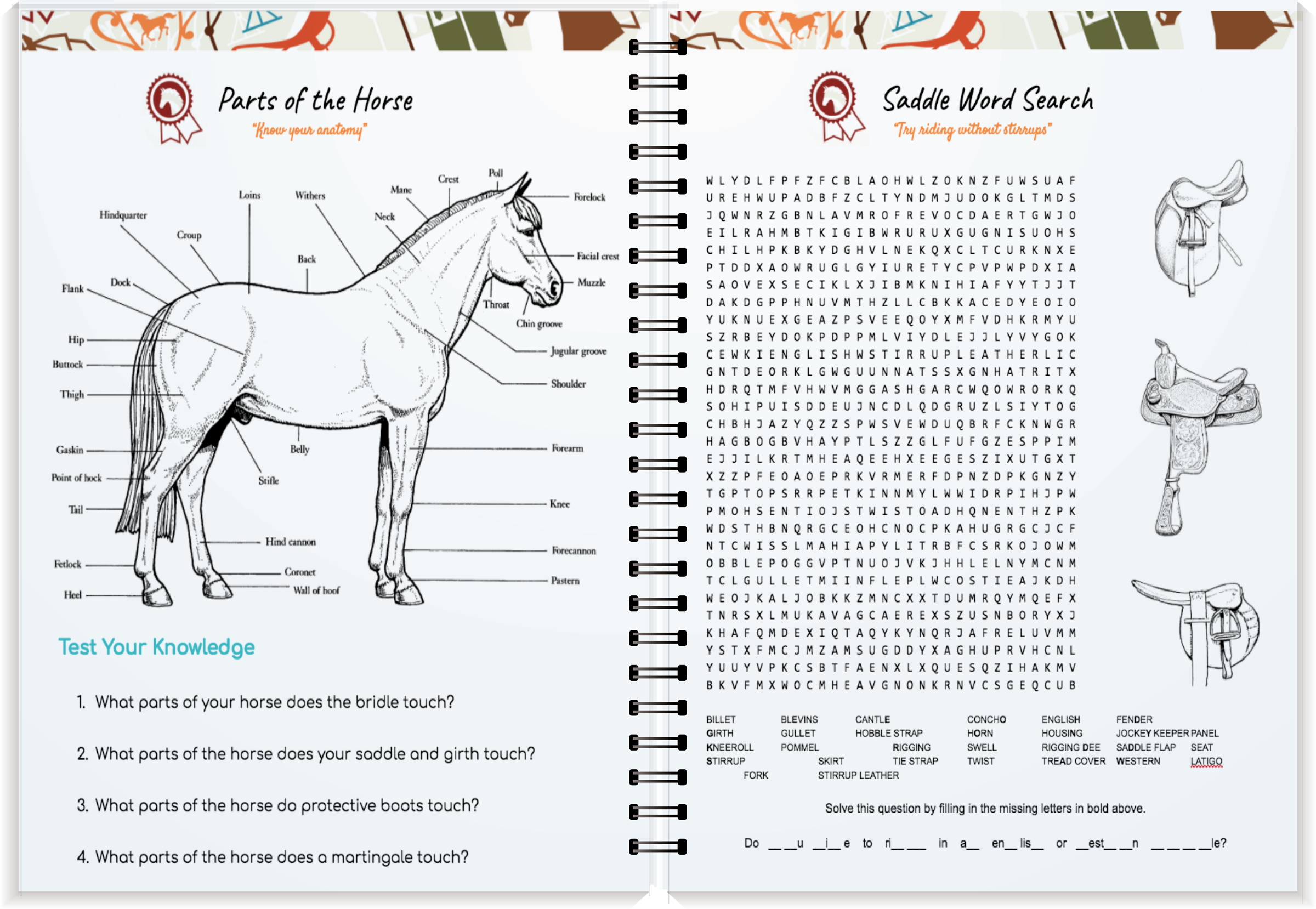 Horse Journal Coloring Book