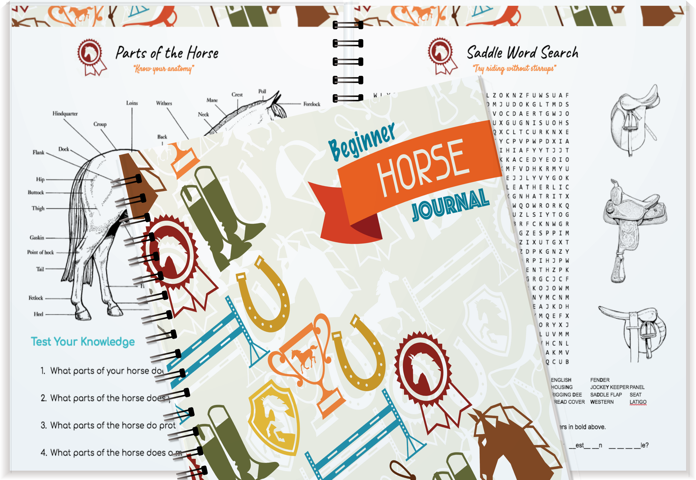 Beginner Horse Journal Coloring Book