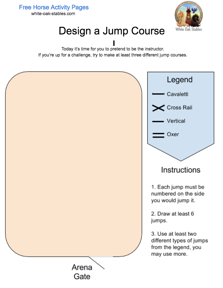 Design a Jump Course – Activity Page