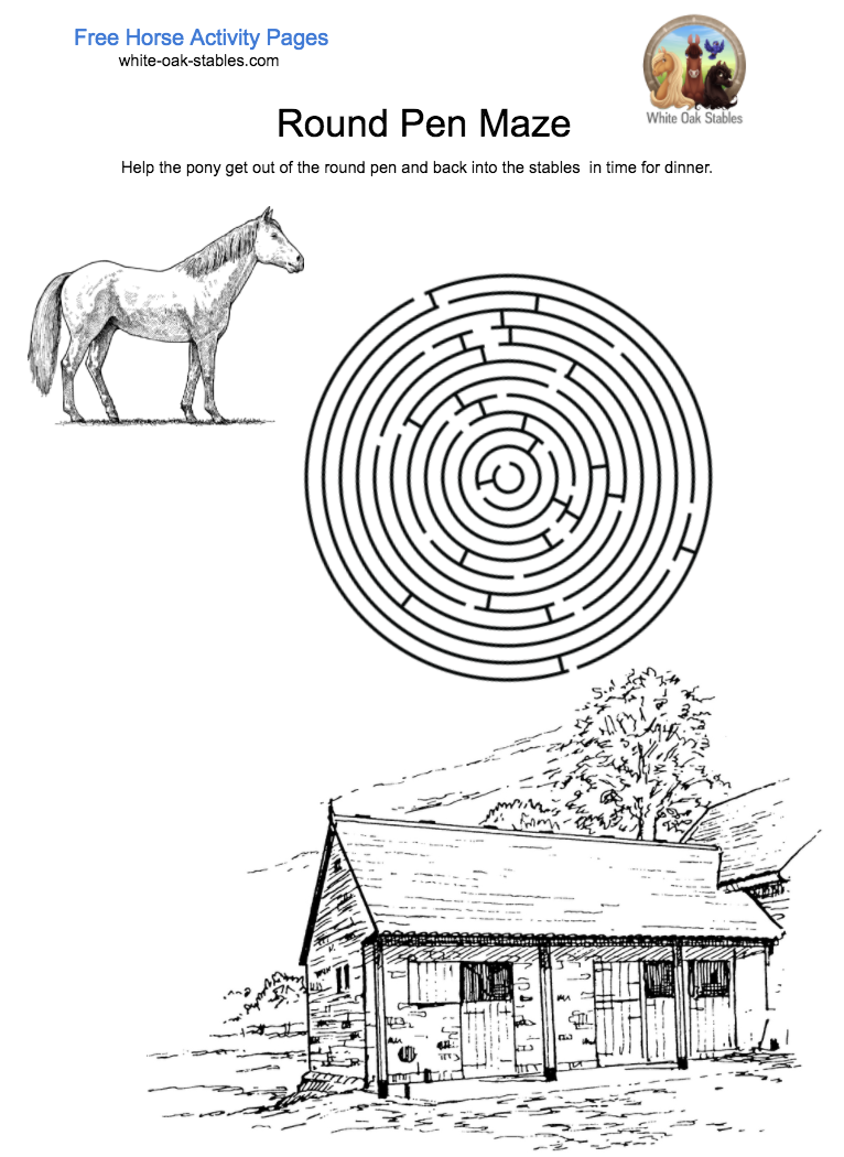 Round Pen Maze – Activity Page