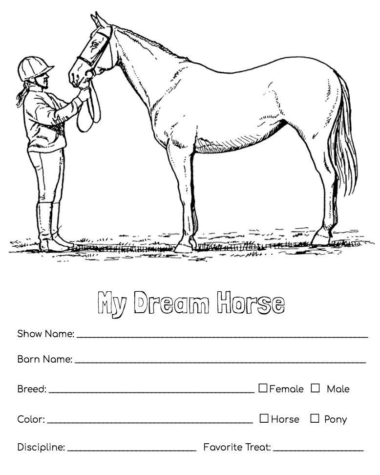 Dream Horse Activity Pages