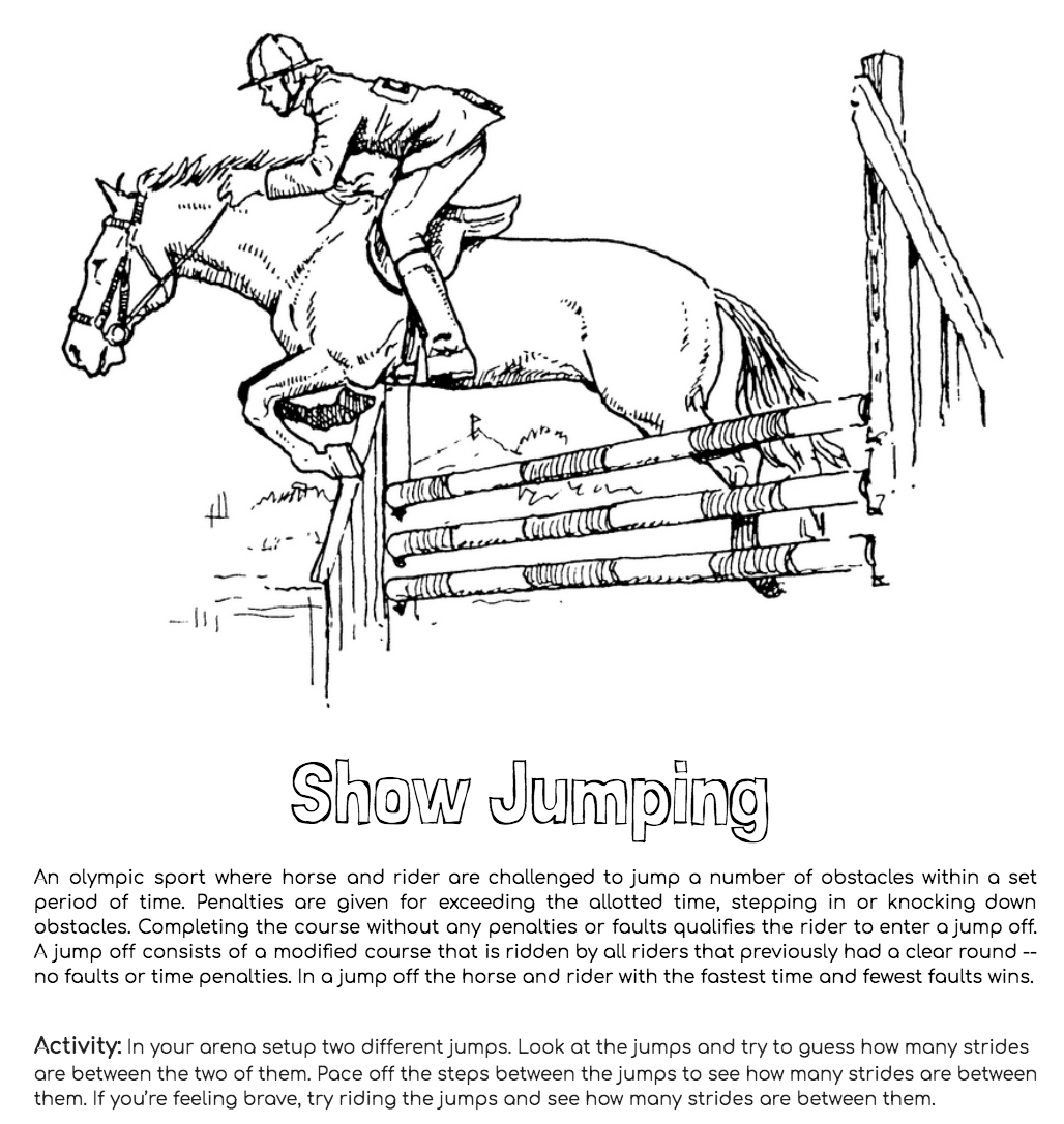 Show Jumping Activity Pages