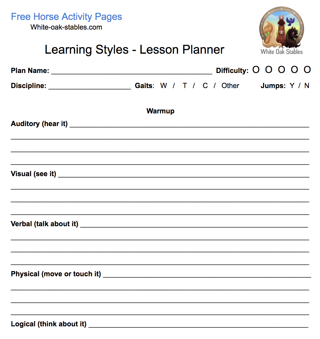 Learning Style Lesson Planner